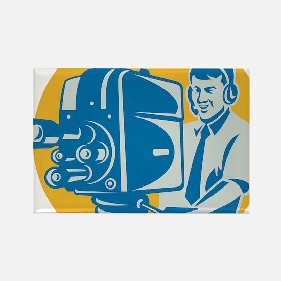 Film  Crew TV Cameraman With Movi Rectangle Magnet