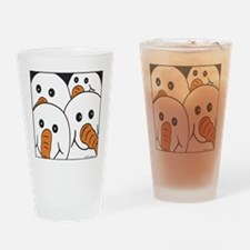 snowmen 4 squa Drinking Glass