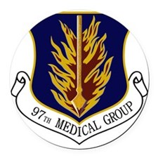 97th Medical Group Round Car Magnet