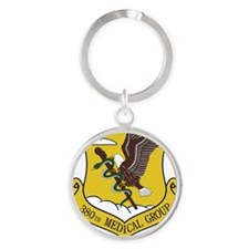 380th Medical Group Round Keychain