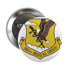 """380th Medical Group 2.25"""" Button"""