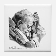 Pope John Paul II Tile Coaster
