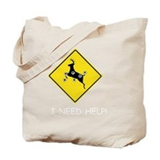 hunter_need_help_white_letters Tote Bag