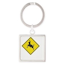 hunter_need_help_white_letters Square Keychain