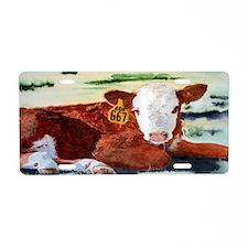calfsticker Aluminum License Plate