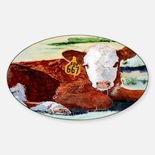 calftoiletry Sticker (Oval)