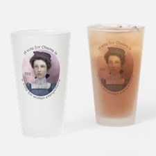 ObamaTshirtBIGfile Drinking Glass
