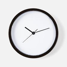 Trex hates pushups1 white Wall Clock