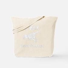 Trex hates pushups1 white Tote Bag
