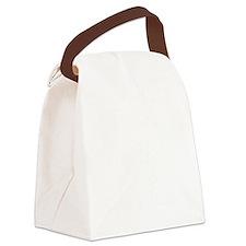 Trex hates pushups1 white Canvas Lunch Bag