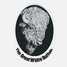 Great White Buffalo Oval Ornament