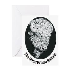 Great White Buffalo Greeting Card