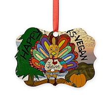 HappyThanksVegan2-2 Ornament