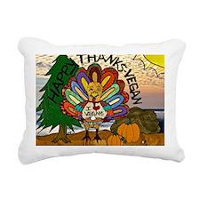 HappyThanksVegan2-2 Rectangular Canvas Pillow