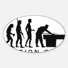 Evolution Billard B Sticker (Oval)