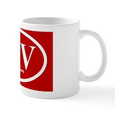 crimson white rec xiv sticker 1 Small Mug