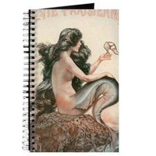 VINTAGE PARISIAN MERMAID SHOWER CURTAIN Journal