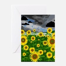 Note Card- Flower Power! Sunflowers Greeting Card