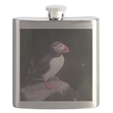 puffin on the rocks Flask