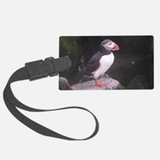 puffin on the rocks Luggage Tag
