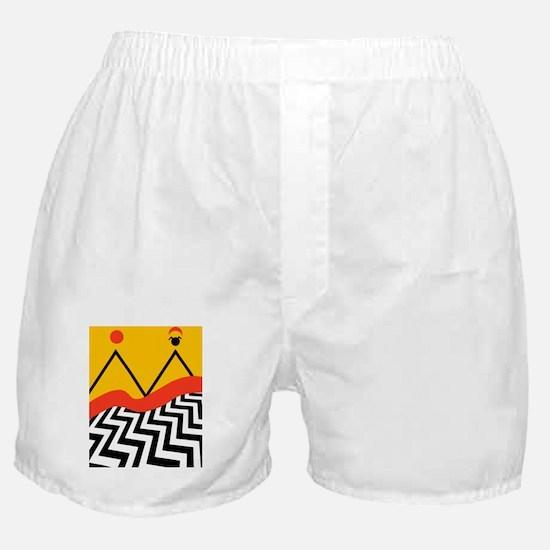 Twin Peaks Jack Rabbits Palace Boxer Shorts