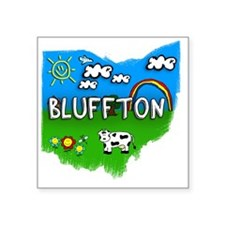 "Bluffton Square Sticker 3"" x 3"""