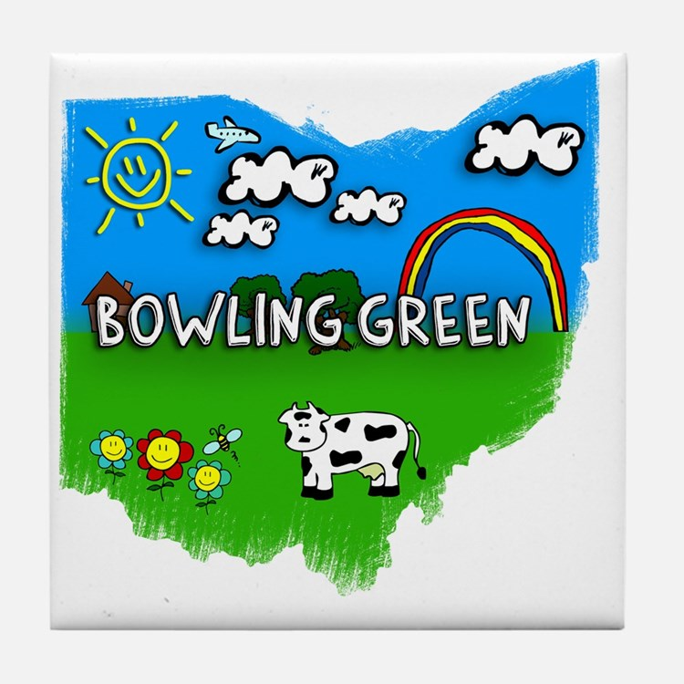 Bowling Green Tile Coaster