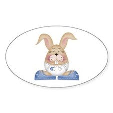 BABY BOY BUNNY Oval Decal