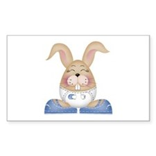 BABY BOY BUNNY Rectangle Decal