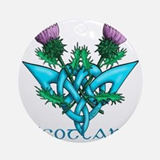 Thistles Scotland Round Ornament