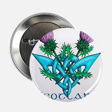 """Thistles Scotland 2.25"""" Button"""