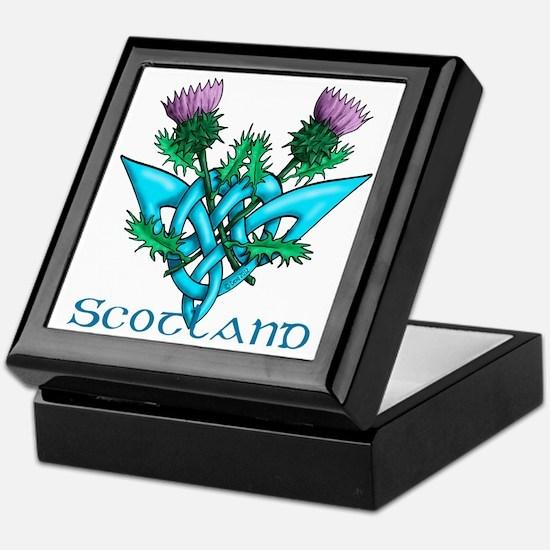 Thistles Scotland Keepsake Box