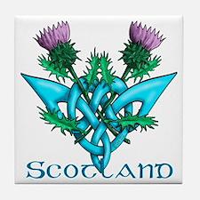 Thistles Scotland Tile Coaster