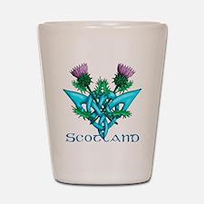 Thistles Scotland Shot Glass