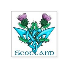 "Thistles Scotland Square Sticker 3"" x 3"""