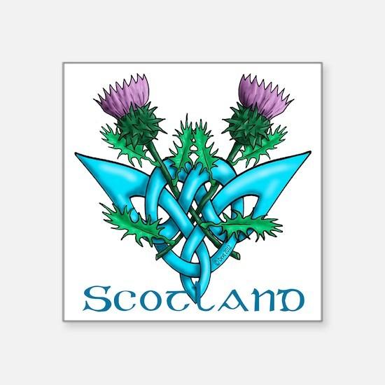 "Thistles Scotland Square Sticker 3"" x 3"""