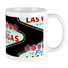 Black Las Vegas Sign 11oz Small Mug