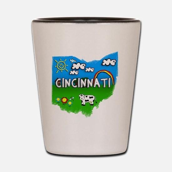 Cincinnati Shot Glass