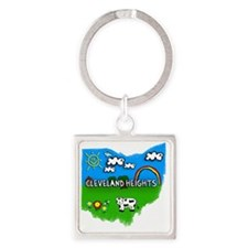 Cleveland Heights Square Keychain