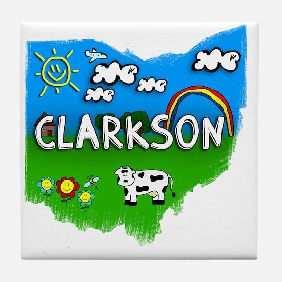 Clarkson Tile Coaster