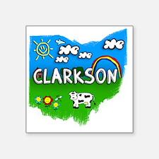 "Clarkson Square Sticker 3"" x 3"""