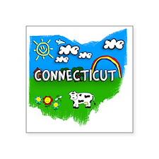 """Connecticut Square Sticker 3"""" x 3"""""""
