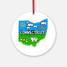 Connecticut Round Ornament