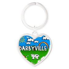Darbyville Heart Keychain