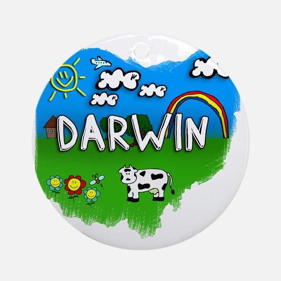 Darwin Round Ornament