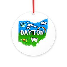 Dayton Round Ornament