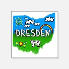"Dresden Square Sticker 3"" x 3"""
