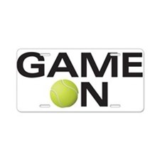 gameOnTennis copy Aluminum License Plate