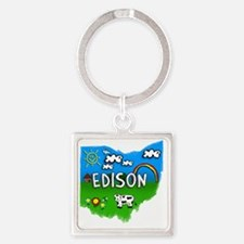 Edison Square Keychain