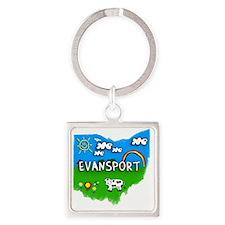 Evansport Square Keychain